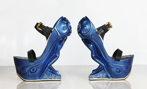 Queen Sculpture High Heel in Midnight Blue — Rudolf Sokolovski Art ...
