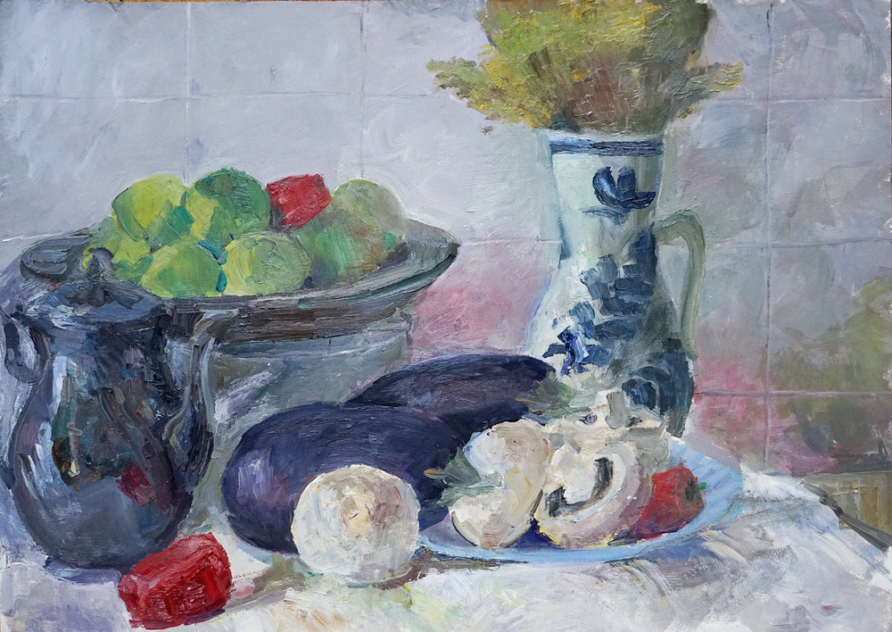 Still Life in Romanian Kitchen