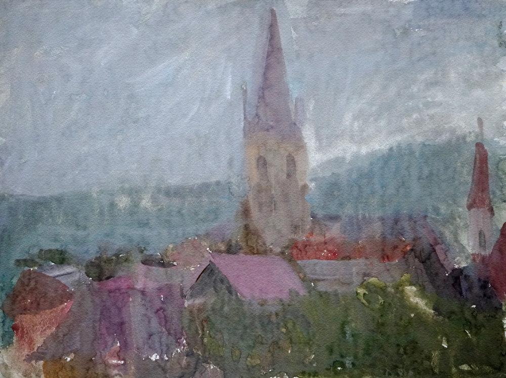 Rain in Sibiu