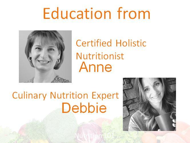 Education Anne and Debbie - Nutrition 101 - .JPG