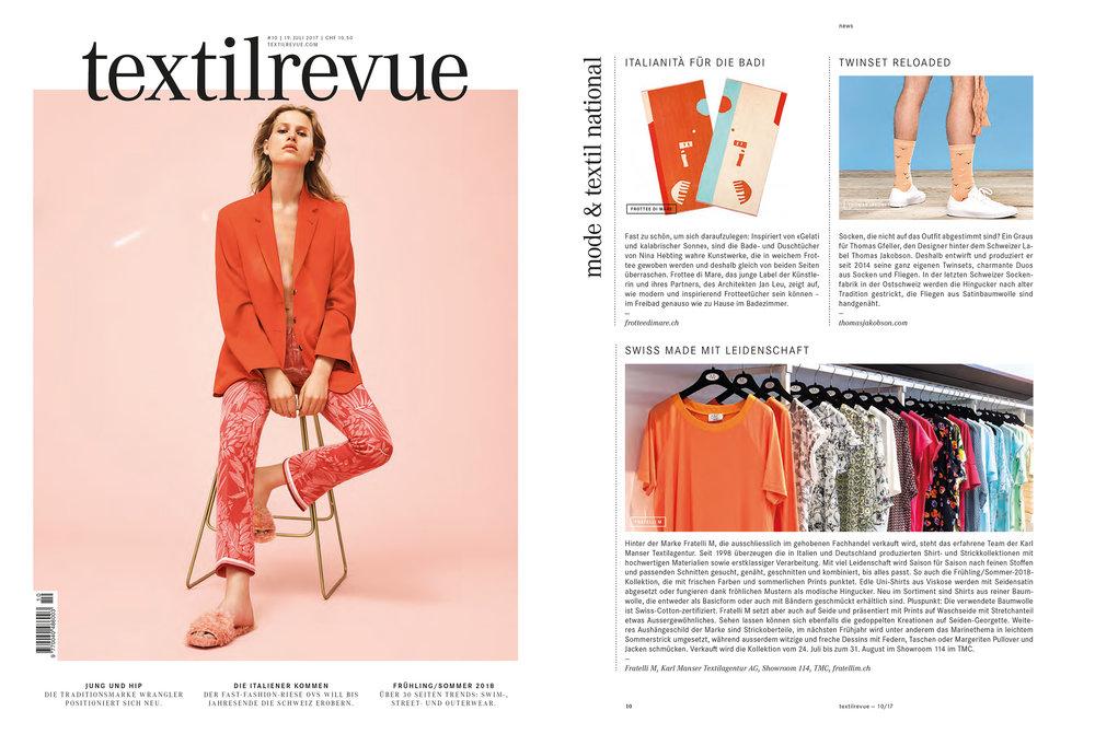 Textilrevue – 19. Juli 2017