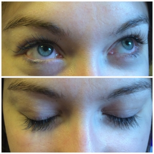Beautiful Semi permanent eyelash extensions