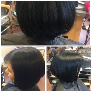 My latest one length cut on Sammie