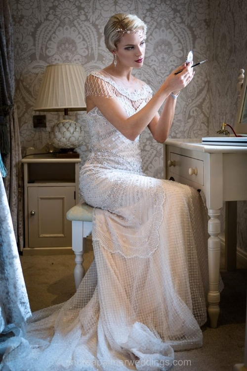 image from our amazing shoot at St James' Hotel with Andrea Palmer Photography.  Model: Charlotte Rees, Dress from The Bridal Suite, Shoes and Headpiece from Love2Sparkle and Flowers from Phoenix Flowers