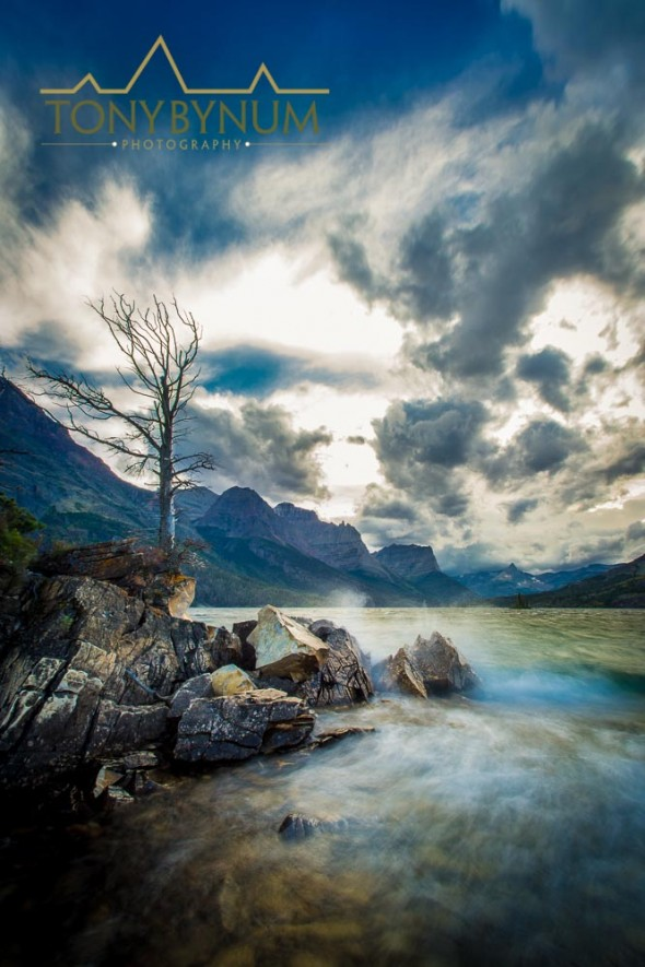 Saint Mary Lake storm, Glacier National Park, montana