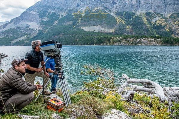imax film crew filming in glacier national park, montana national parks adventure