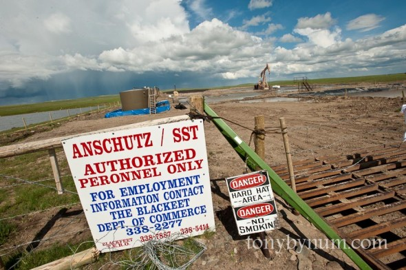 anschutz oil well on the blackfeet indian reservation