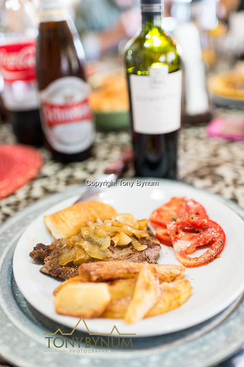 Great home cooked meal's every night on the Los Molles, Ranch. La Pampa, Argentina ©tonybynum.com