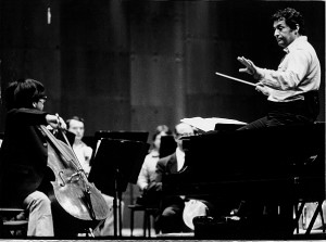 Bion Tsang, age 11, rehearsing with Zubin Mehta and the New York Philharmonic Orchestra