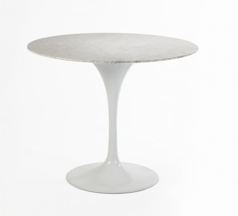 France & Son Marble Tulip Side Table, $350