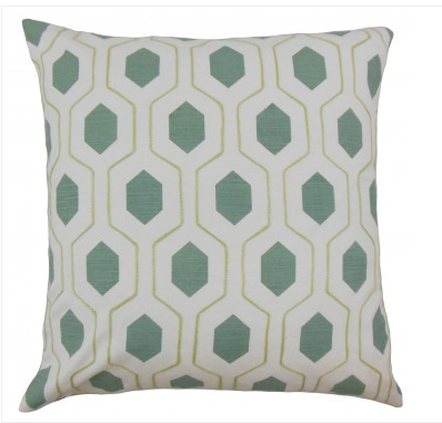 The Pillow Collection Flynn Geometric Pillow, $55