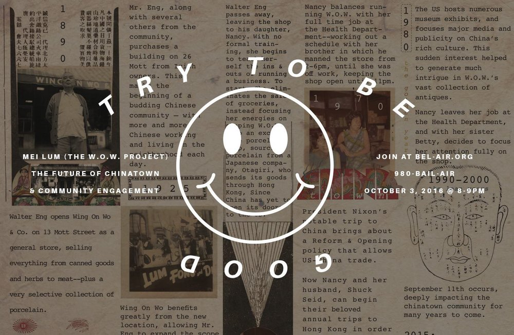 Try To Be Good: Radio Bel Air - October 2016