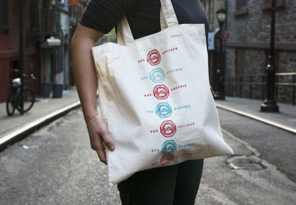 Donate $100 + and you will receive a custom hand-printed W.O.W Project tote bag!