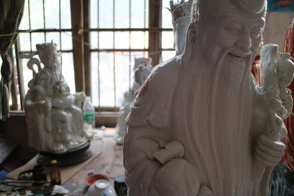 visit to the statue factory