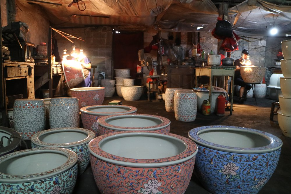 visit to the enamel factory
