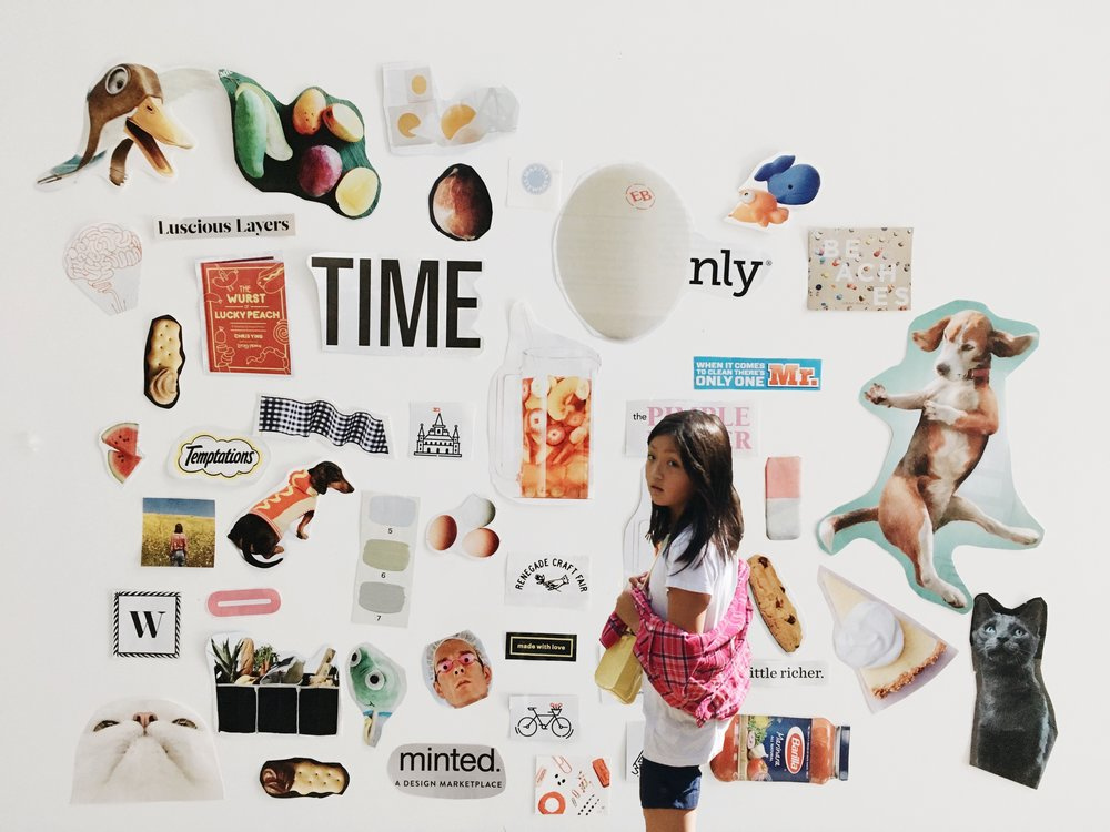Hand-made collage + photography -