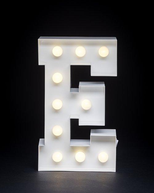 9 Metal Bedside E Light Giant Letter Company Light Up Letters