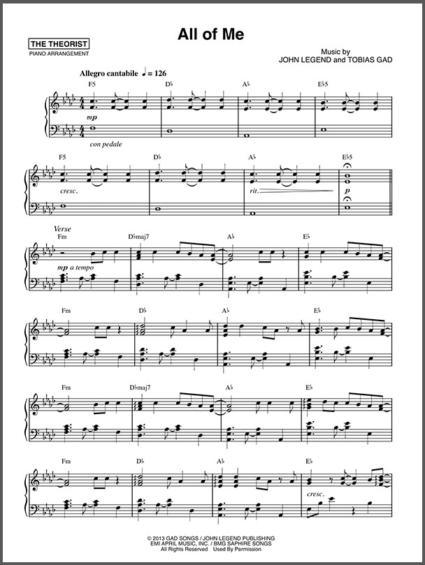 Young and Beautiful  Piano Sheet Music
