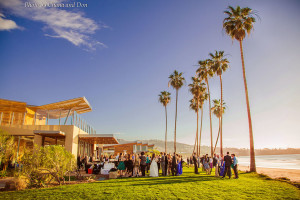 Wedding Guests Sunset at Scripps Seaside Forum