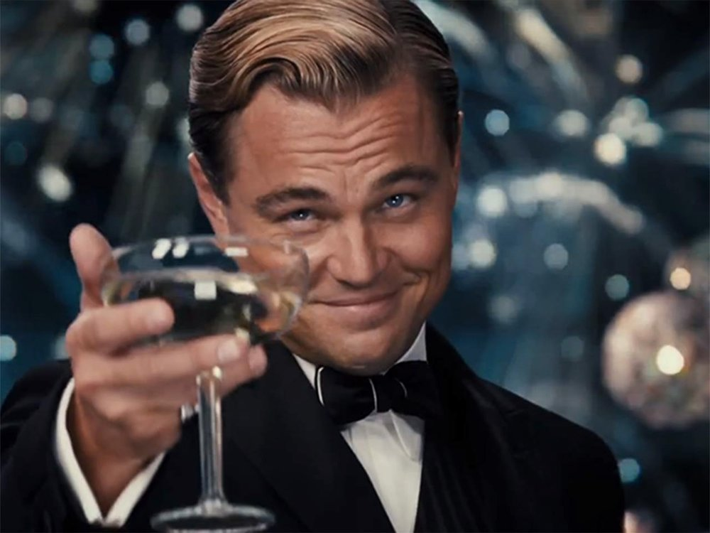 Here's to you, old sport!