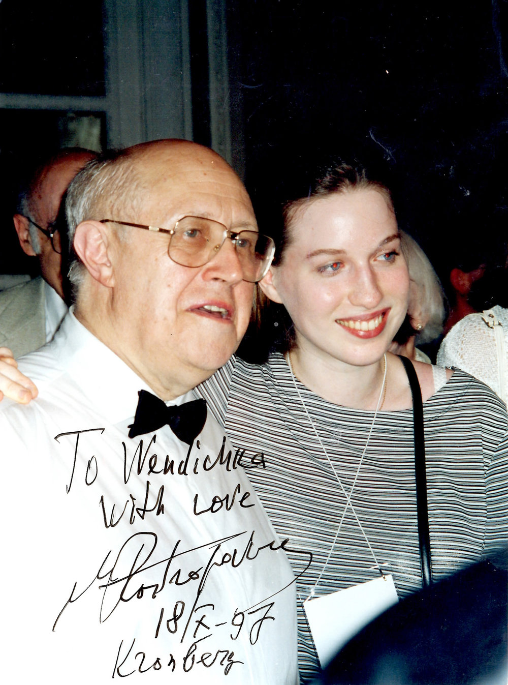 Rostropovich and myself in Russia