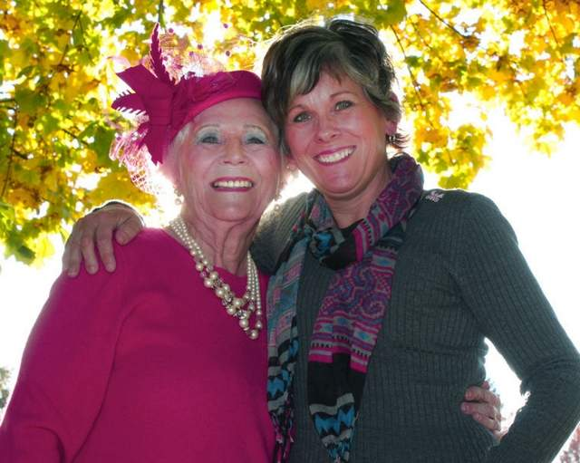 "Mary Faux and her daughter, Laura Faux Donnelly, are breast cancer survivors who have 30 years of ""survivorship"" between them. During October's observance of National Breast Cancer Awareness Month, the two are even more vocal than usual about the importance of mammograms as an early detection tool for all women. (Photo by DAVID GUNTER)"