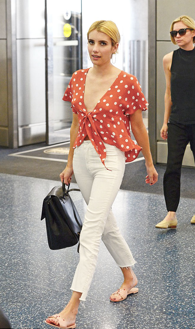 """Emma Roberts in the """"Winnie"""" blouse 