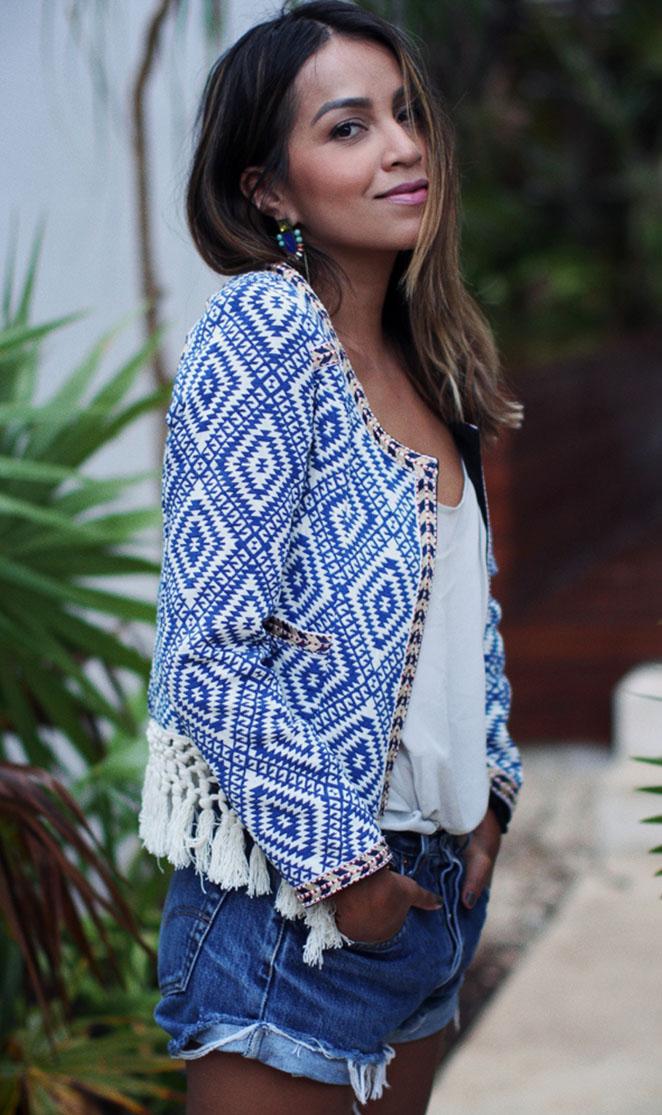 "Julie Sarinana in the ""Santa Fe"" jacket | Designed by Noelle Cruz for TULAROSA"