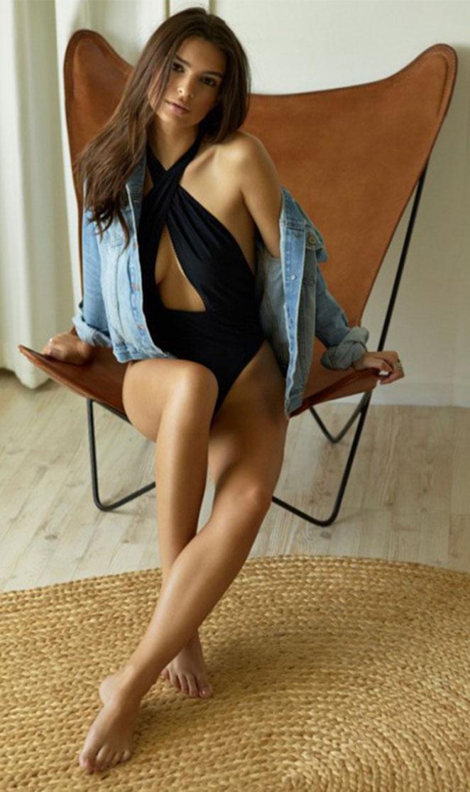 "Emily Ratajkowski in the ""Tamsen"" Denim Jacket | Silhouette Design by Noelle Cruz for TULAROSA"
