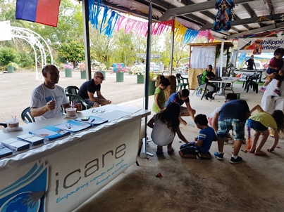 Children at iCare stall