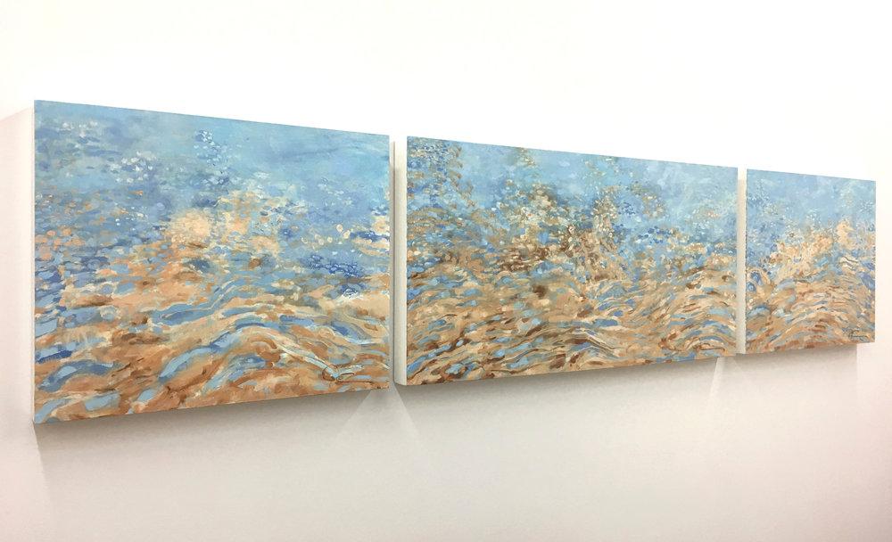 Bastendorff SHIMMER, triptych #10, #9, #11 - side view
