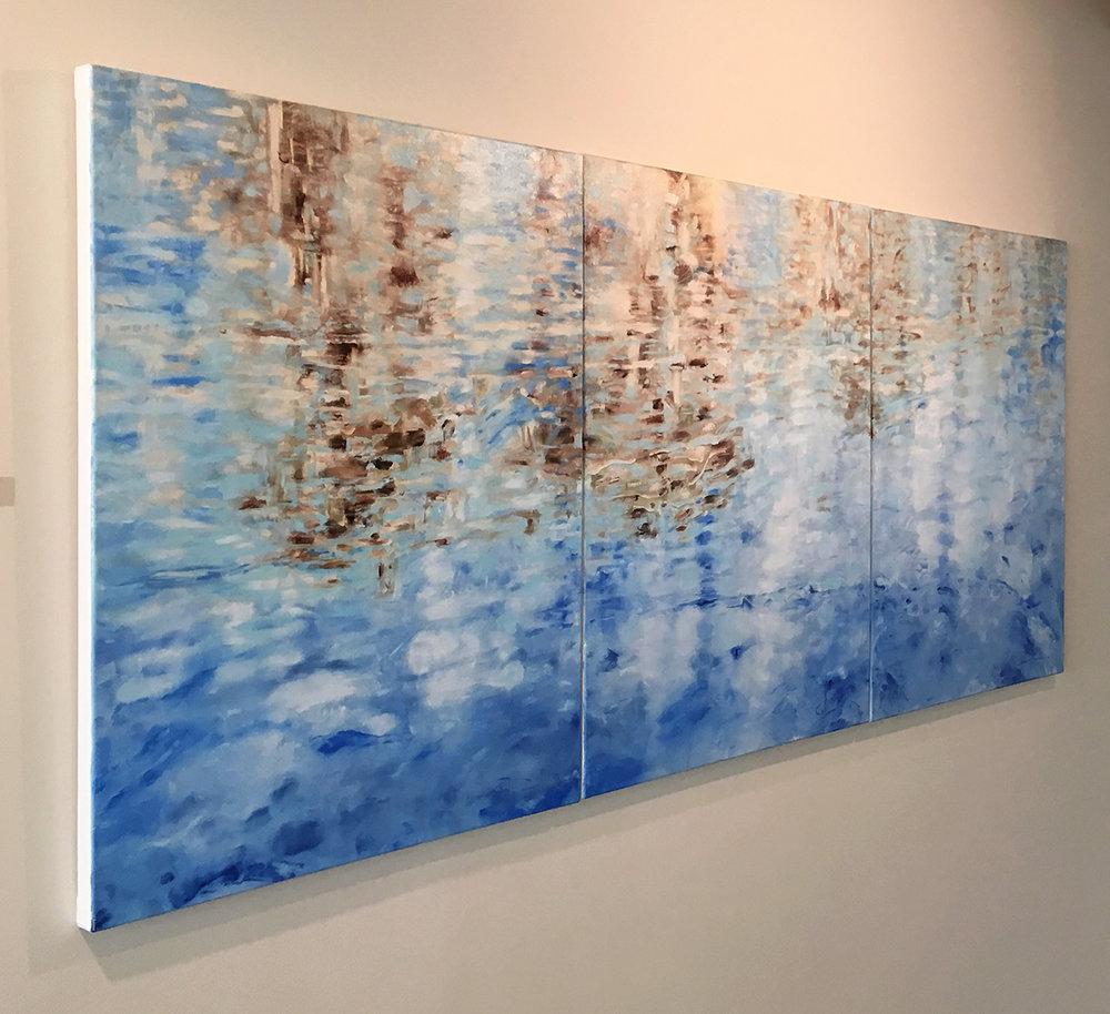 PORTALS - solo show installation detail at Gray Loft Gallery