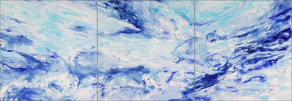LIVING OCEANS #1, Triptych - parts 1, 2, 3