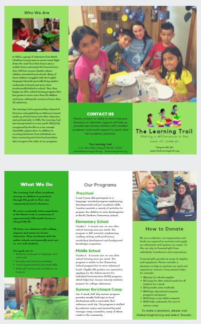 SHD marketing brochure development