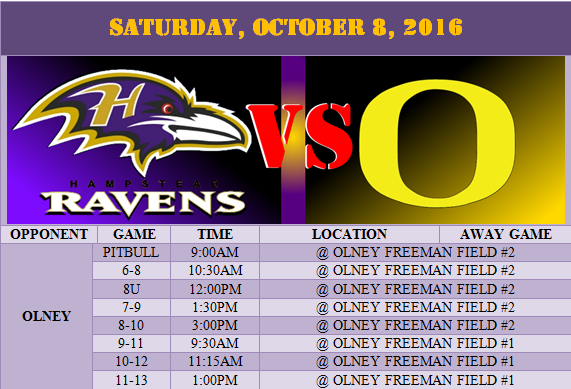 Ravens Vs Olney Saturday And Pep Rally Sunday
