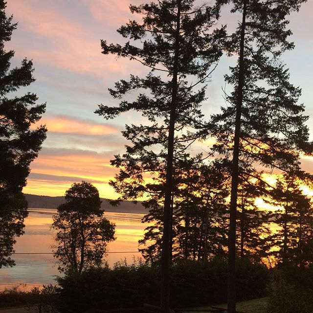 Good morning #sunrise #newday #newbeginnings #thesunwillrise #beautifulbritishcolumbia #saltspringisland