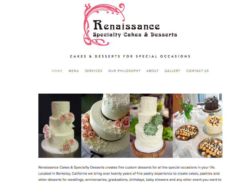 Renaissance Cakes Homepage