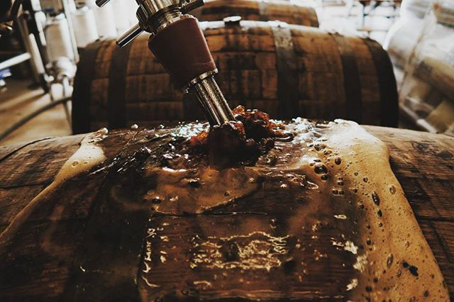 Fresh bourbon barrels are filled with Santa's Secret Stash... See you in July.