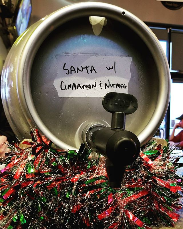 Come by the @thegrowlerbar tonight to grab a pint of the ONLY firkin in town of Santa's Secret Stash aged on cinnamon and nutmeg. Merry Christmas you filthy animals.