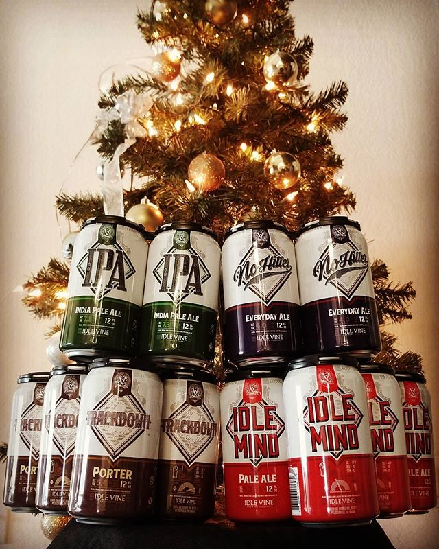 Hoppy Holidaze from the Idle Vine family to yours! Eat, drink, and be merry... but mostly drink.