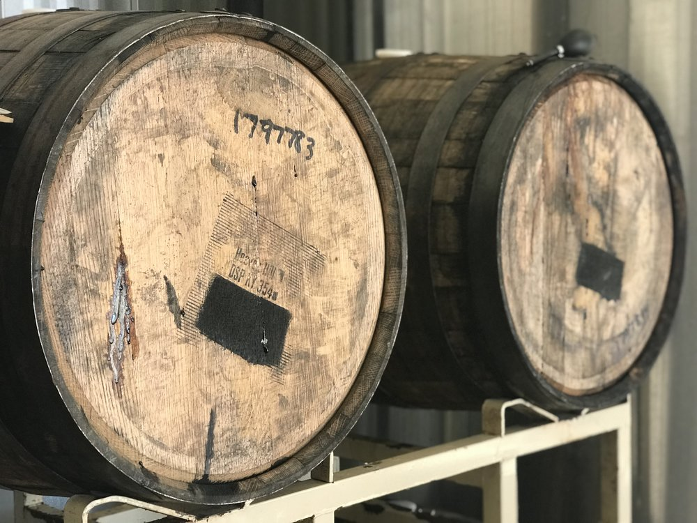 "OUR WINTER RELEASE SANTA'S SECRET STASH IS CHILL'N, RIGHT HERE IN THEM THERE BOURBON BARRELS. WE PLAN ON RELEASING THE ""SECRET"" IN JULY! CHRISTMAS WILL COME EARLY. AND THIS IS JUST THE BEGINNING, MUCH MORE TO COME..."