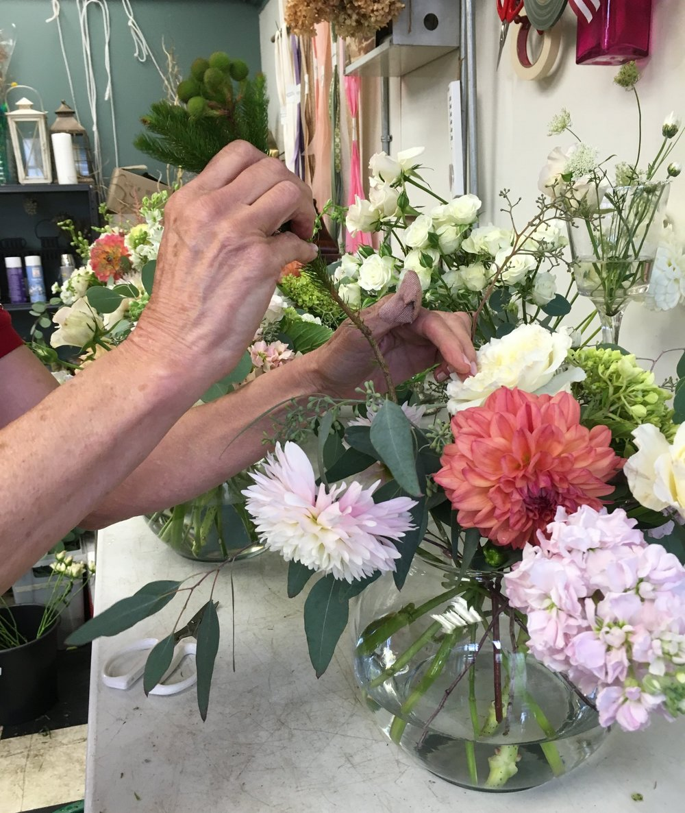 Bloom Brigade Floral Design In Progress