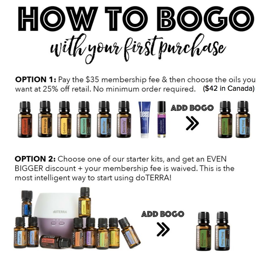 how to BOGO with your first order doTERRA Alice Abba