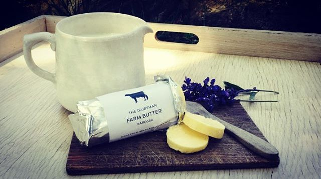 Farm butter and cream from #southaustralia @thedairymanbarossa. Simple and delicious! #DoDairy #SupportSA