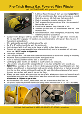 Gas Winder Specs & Information
