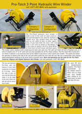 Hydraulic Winder Specs & Information