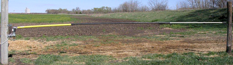 "This new bump gate is engineered to let you drive through with your tractor, pickup, ATV or any type of vehicle you are going in and out of your livestock pen with. This all new gate will allow you to drive right through from either direction instead of stopping and opening the gate and shutting behind you going in and out. The time this saves is amazing! The gate is manufactured using 6061-T6 aircraft aluminum tubing that telescopes from 1 1/4"" down to 1"" along with FRP structural fiberglass with UV rated inhibiter (yellow section)."