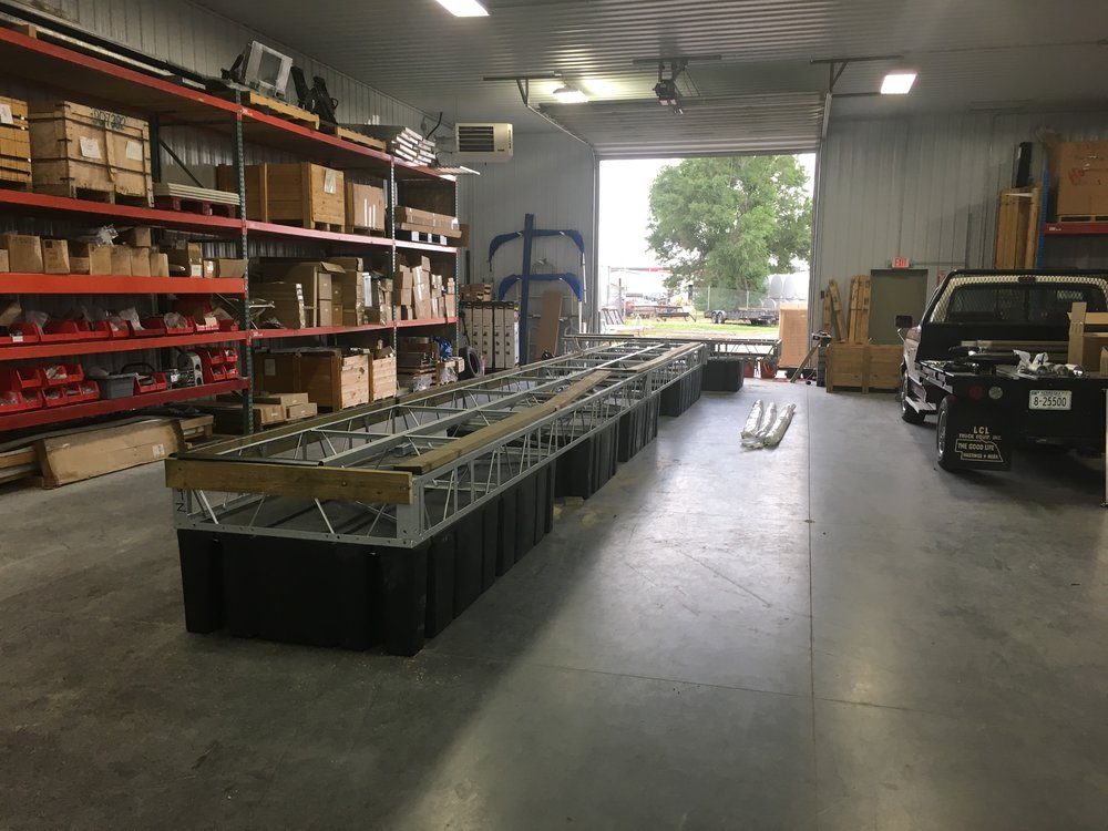 In most instances when Hotwood's crew is installing your dock, we will preassemble the unit in our warehouse to make sure the fit and integrity of all material is to our standards before it ever leaves.