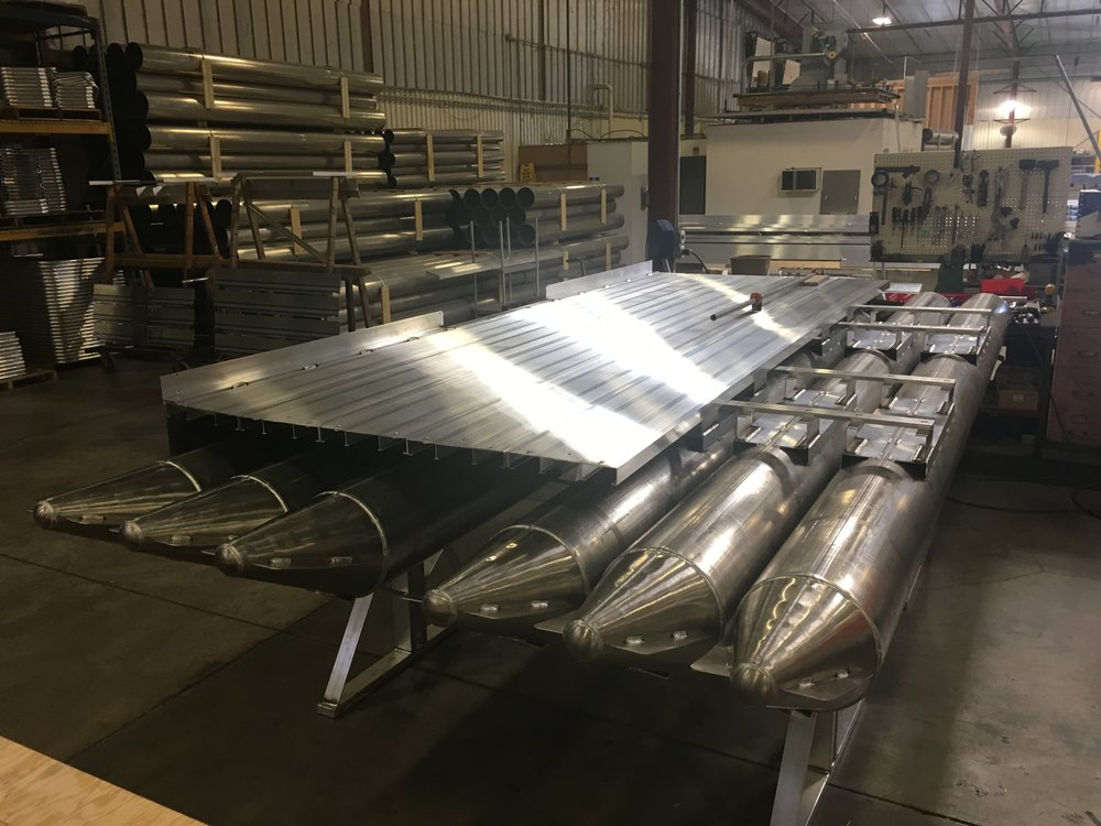 You can see the engineering and type of quality that goes into our 716 Aluma Sport in this photo of one that is being assembled in our factory. With this substructure and flooring, you will never have any issues concerning the longevity or performance of this craft. Completely aluminum with stainless steel hardware. Our Aluma Sport line of boats should really be called the Forever Boats.  We absolutely want to give each and every customer the best we have and that is exactly what you get when you purchase a pontoon boat from Hotwoods.