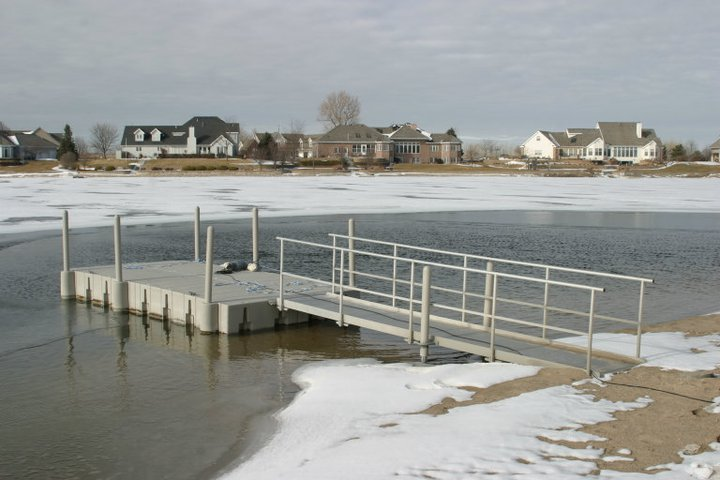 Photo above shows what 1 ice eater will do for you and the size of the area you can keep open. When everyone else has a dock that is frozen in, you will have open water in the coldest of temperatures all winter long.